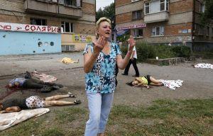 """Кадър от Луганск. Стотици са цивилните жертви на украинската """"антитерористична операция"""""""